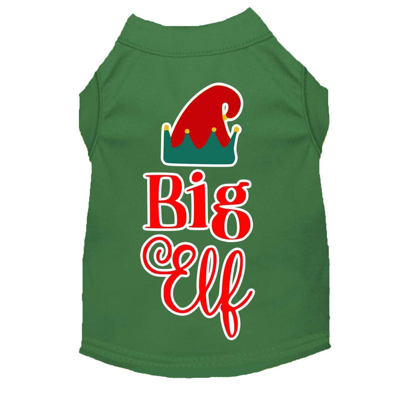 Big Elf Christmas Dog T-Shirt - Green