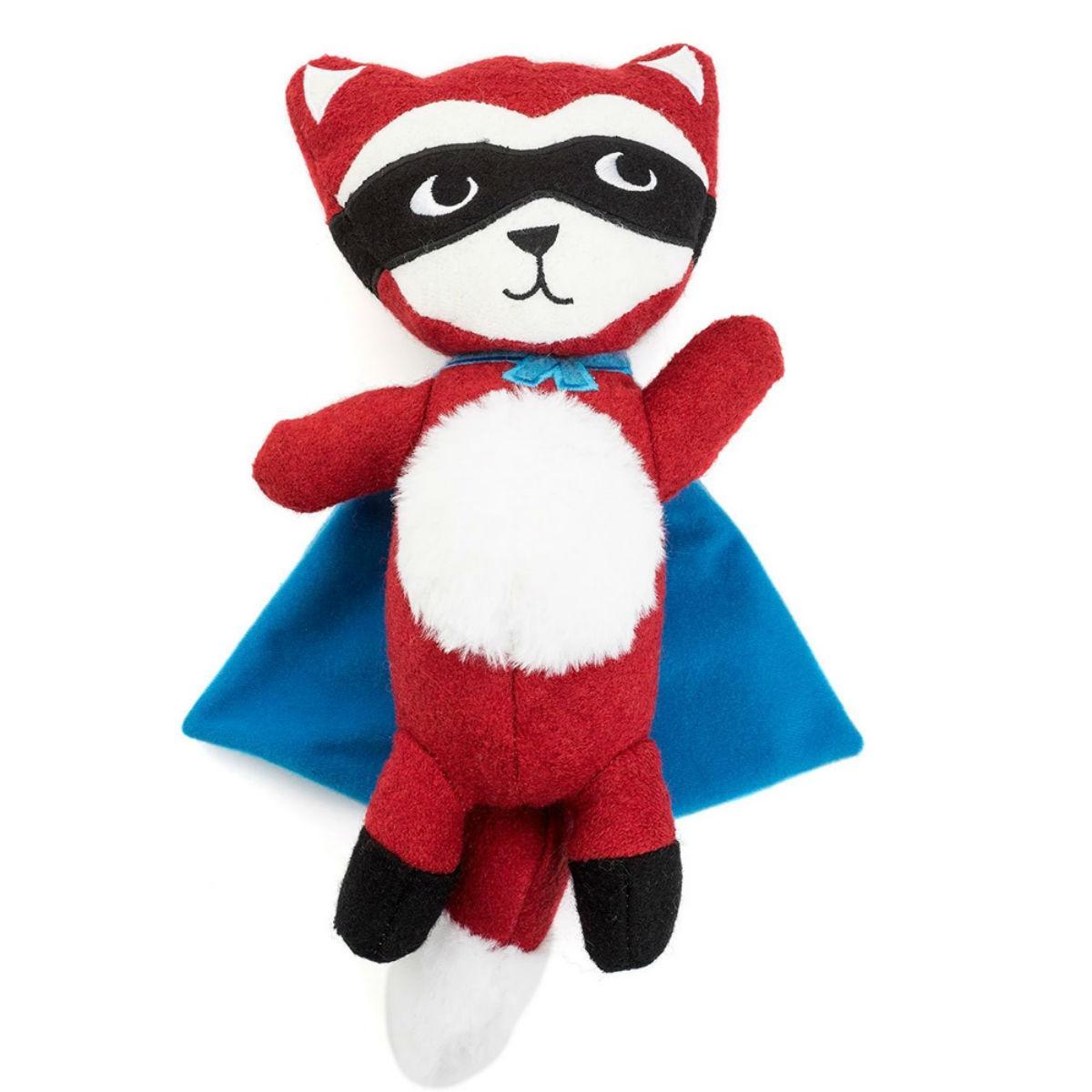 Tricky Sam the Fox Wool Dog Squeak Dog Toy by Jax & Bones