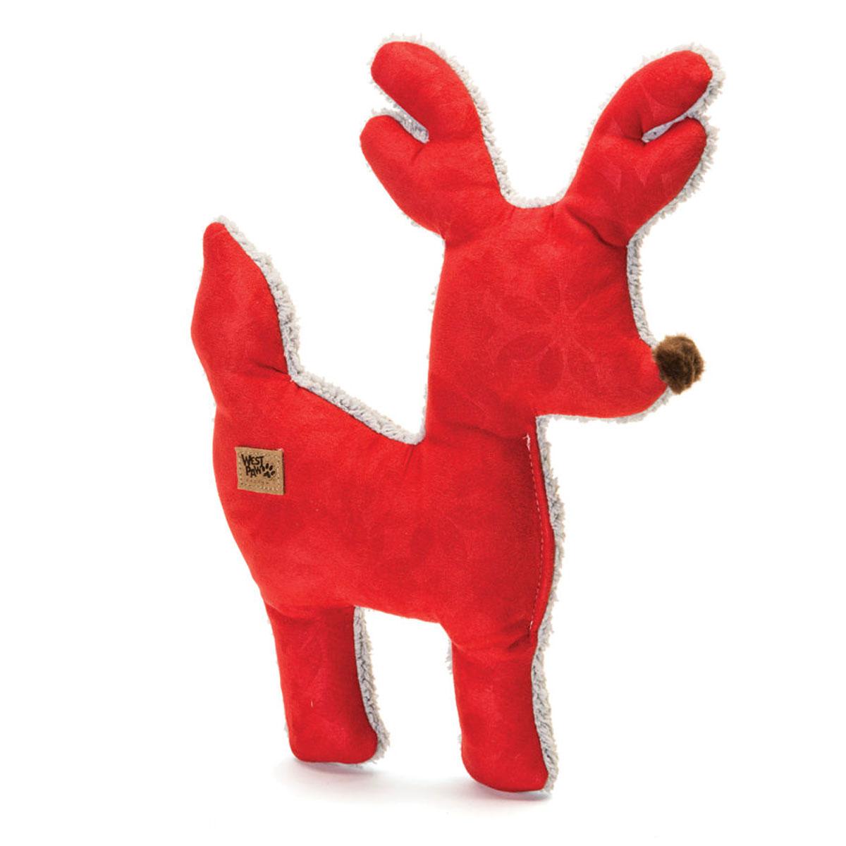 Big Sky Reindeer Holiday Dog Toy - Crimson