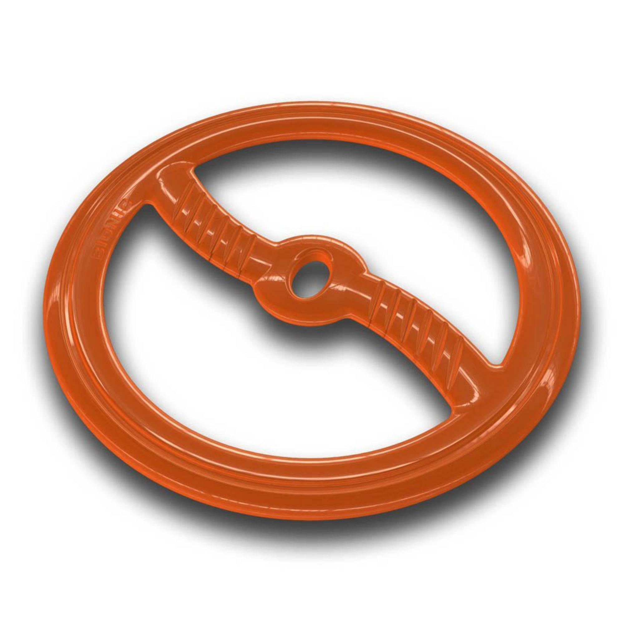 Bionic Toss N Tug Ring Dog Toy- Orange