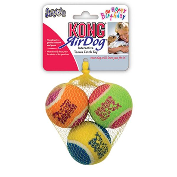 KONG Birthday Air Squeaker Balls Dog Toy