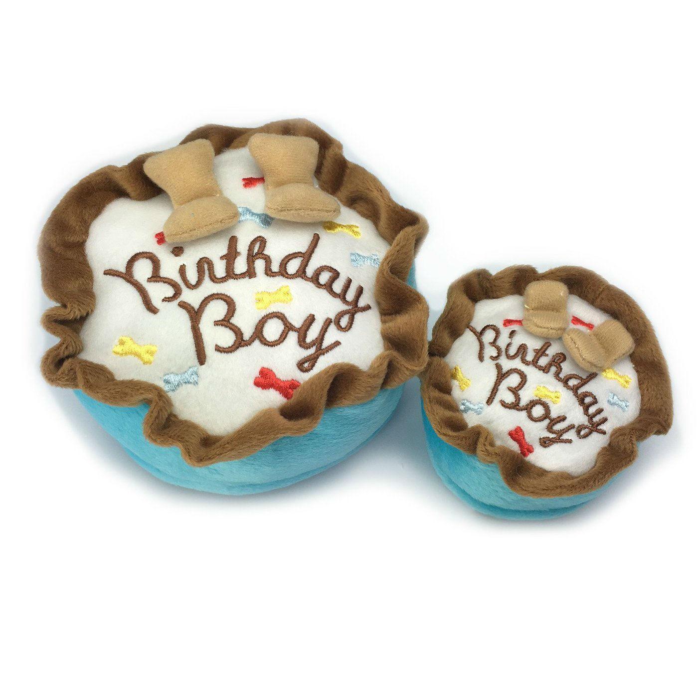 Birthday Boy Cake Plush Dog Toy
