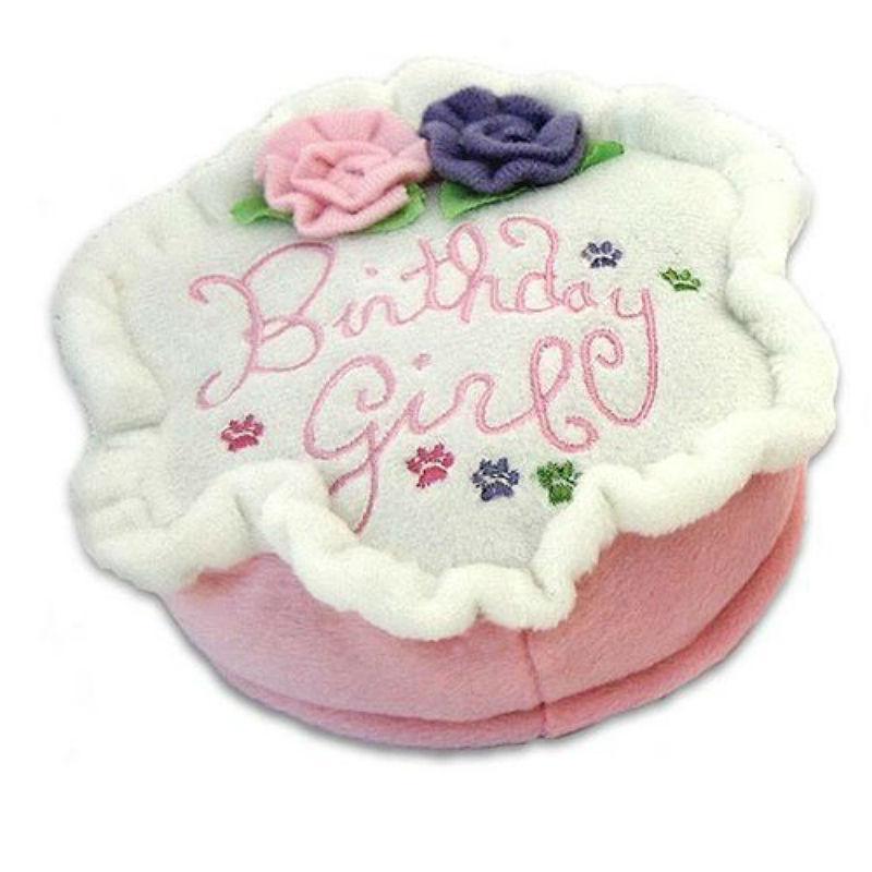 Birthday Girl Cake Plush Dog Toy
