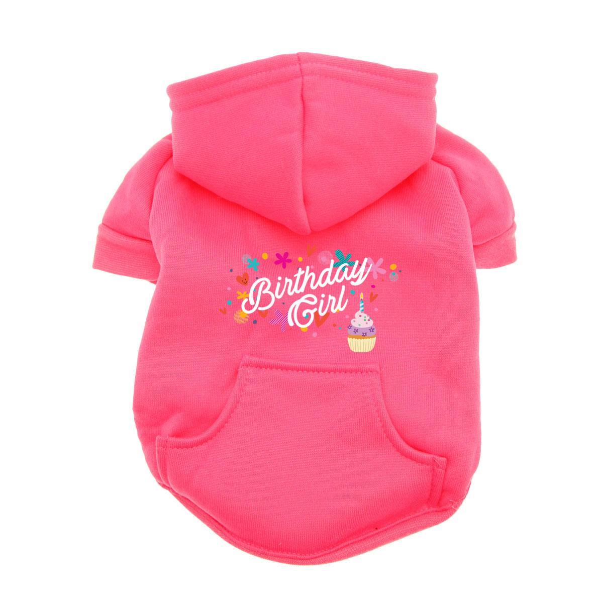 Birthday Girl Dog Hoodie - Pink