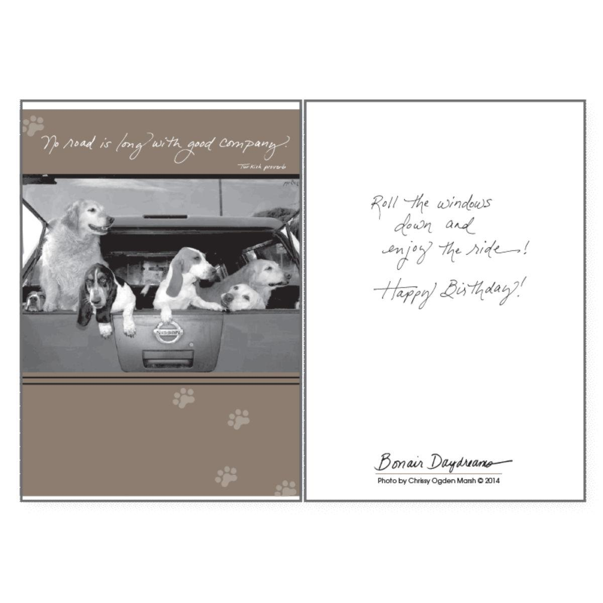 Birthday greeting card by dog speak no road is long with same day birthday greeting card by dog speak no road is long m4hsunfo