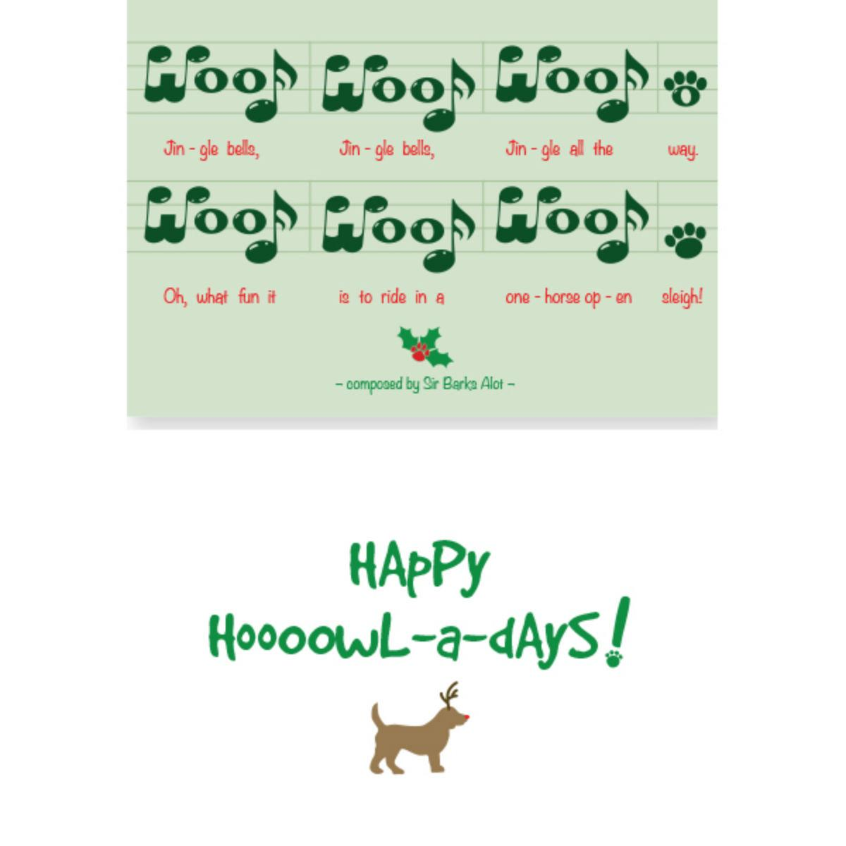 Holiday Greeting Card by Dog Speak - Jingle All the Way