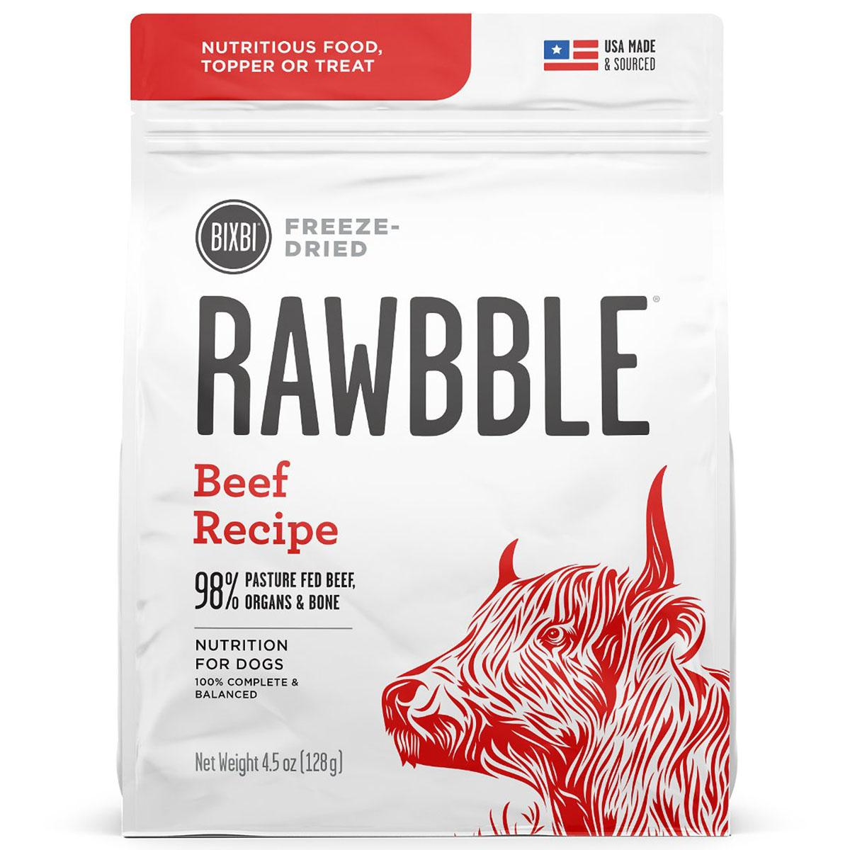 BIXBI RAWBBLE Freeze-Dried Dog Food - Beef Recipe