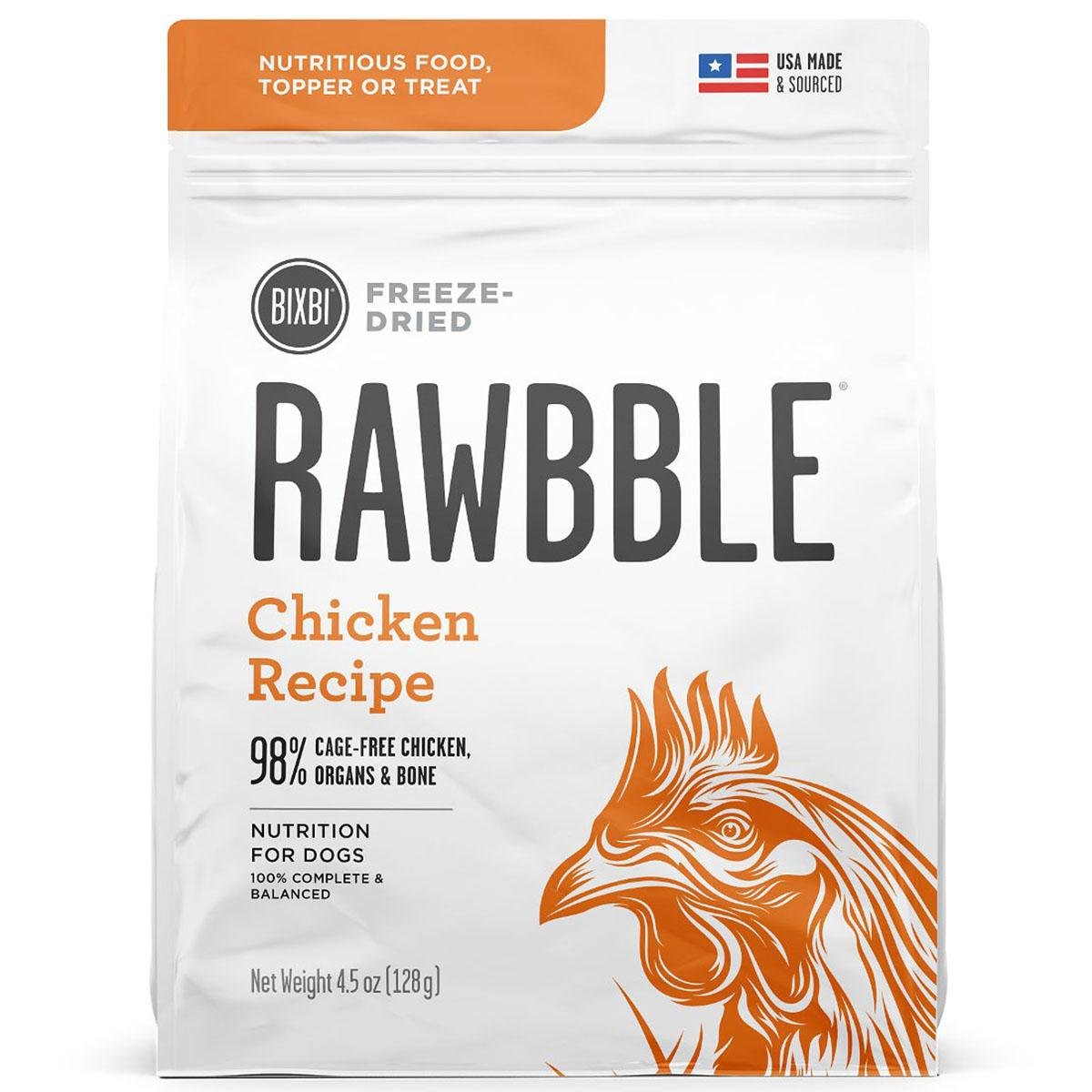 BIXBI RAWBBLE Freeze-Dried Dog Food - Chicken Recipe