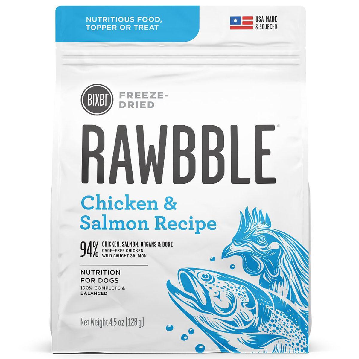 BIXBI RAWBBLE Freeze-Dried Dog Food - Chicken & Salmon Recipe