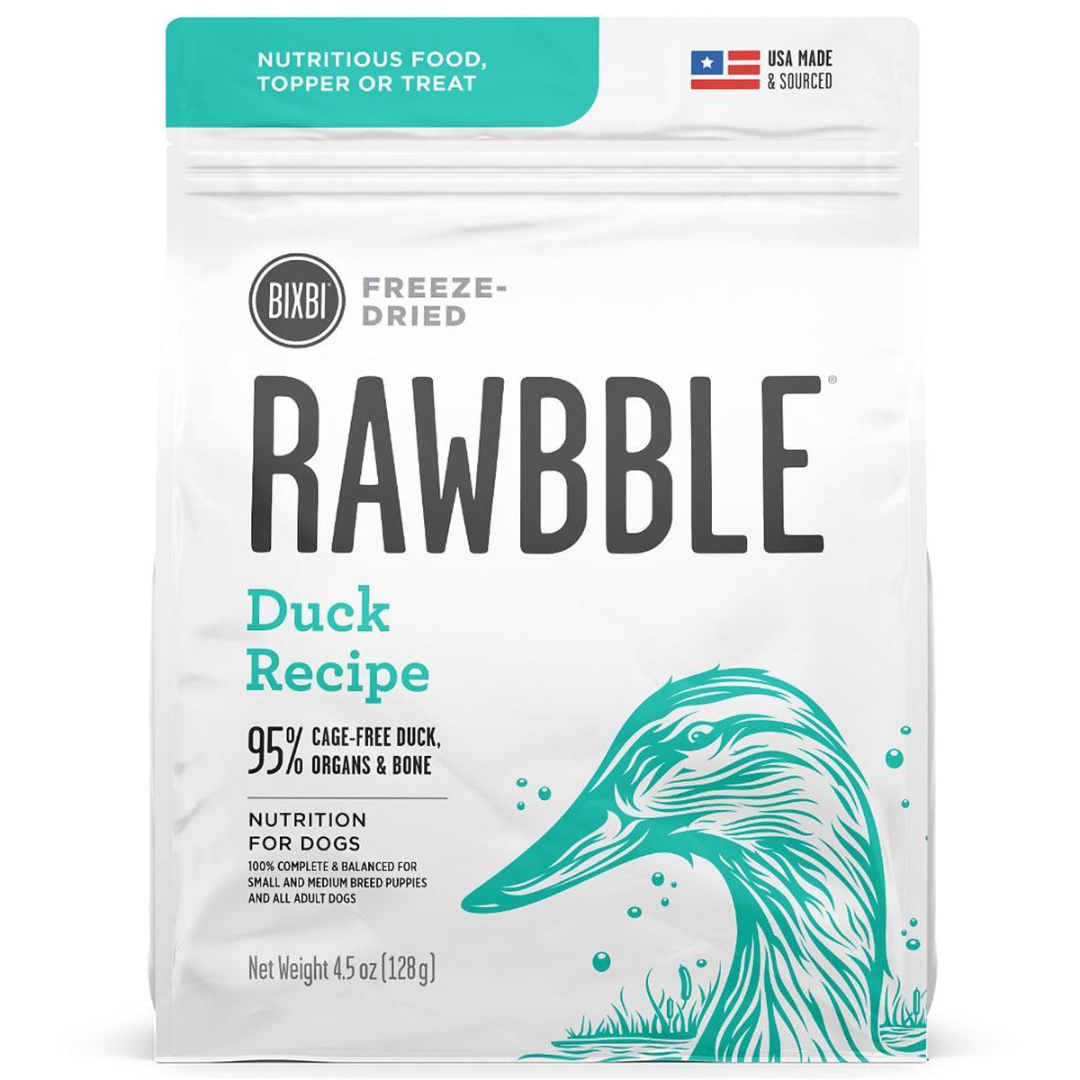 BIXBI RAWBBLE Freeze-Dried Dog Food - Duck Recipe