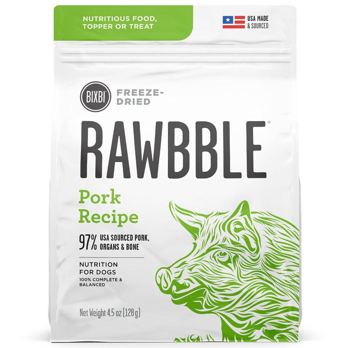 BIXBI RAWBBLE Freeze-Dried Dog Food - Pork Recipe