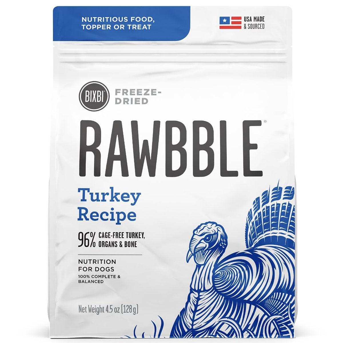 BIXBI RAWBBLE Freeze-Dried Dog Food - Turkey Recipe