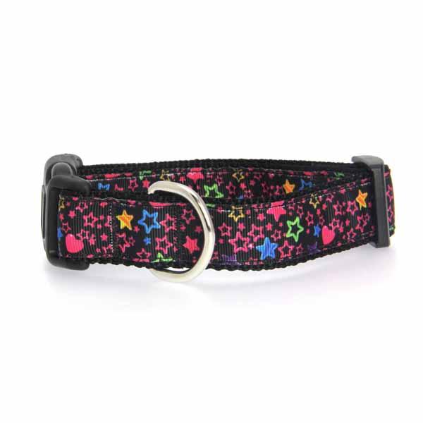 Black Stars Dog Collar