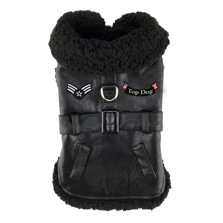 Top Dog Flight Harness Coat by Doggie Design - Black