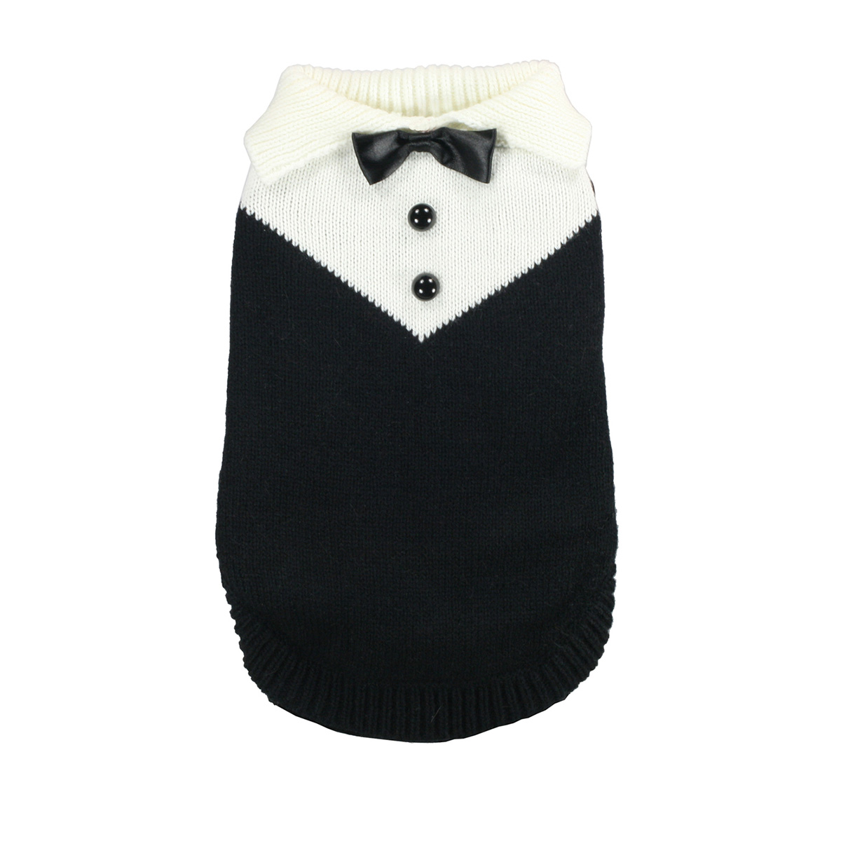 Black Tux Dog Sweater by Hip Doggie