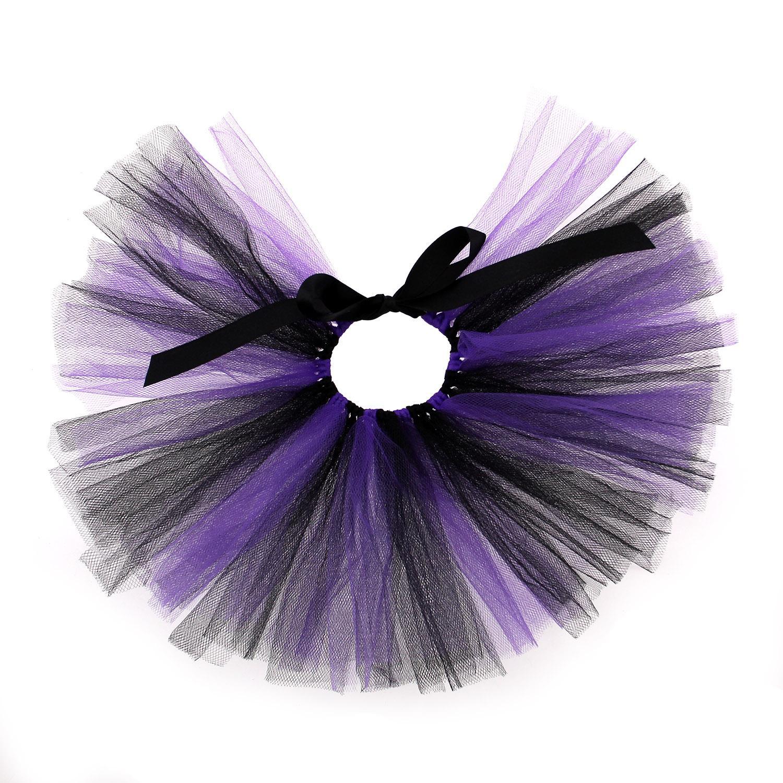 Black/Purple Tulle Dog Tutu by Pawpatu