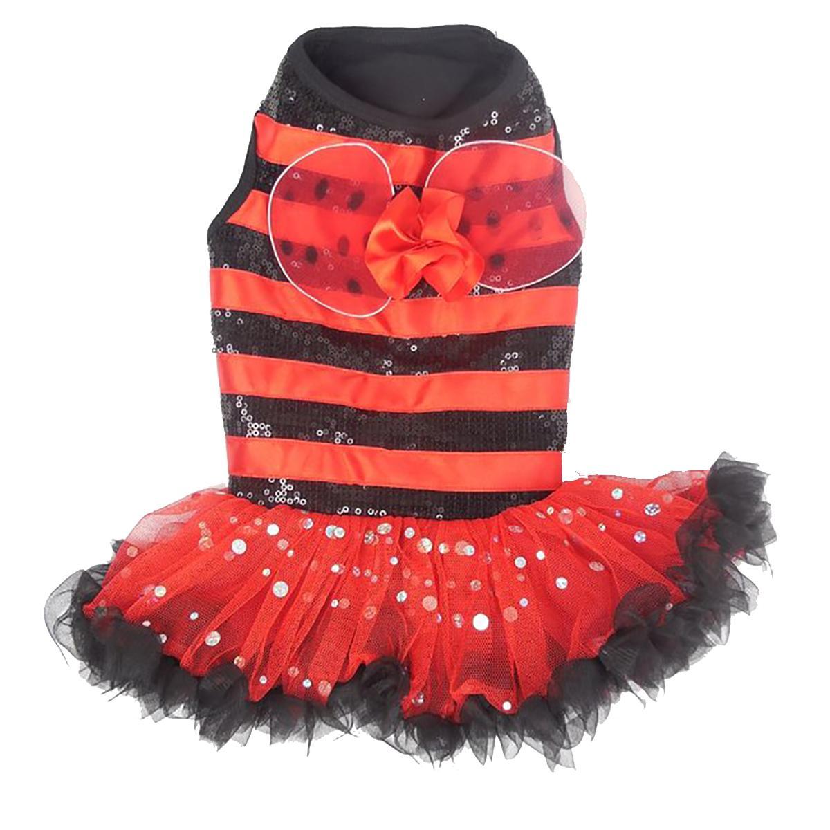 Ladybug Dog Dress by Pawpatu