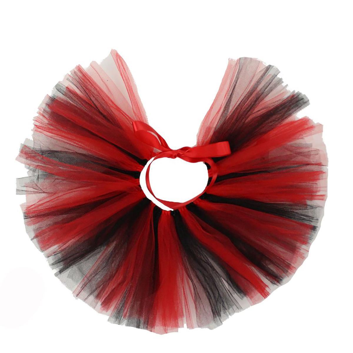 Black/Red Tulle Dog Tutu by Pawpatu