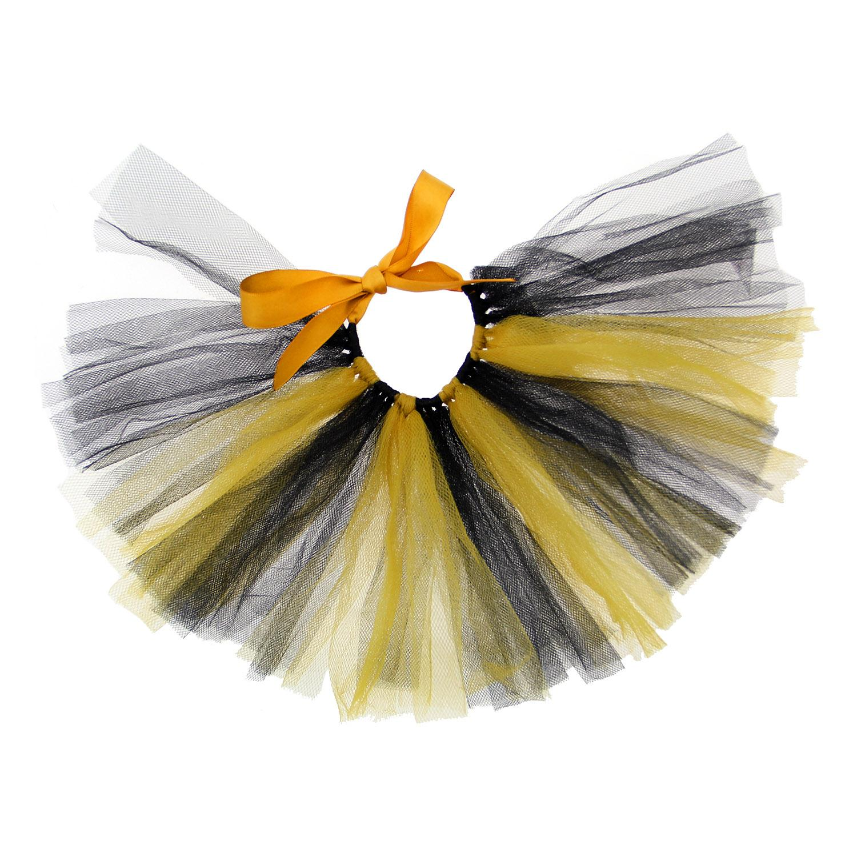 Black/Yellow Tulle Dog Tutu by Pawpatu