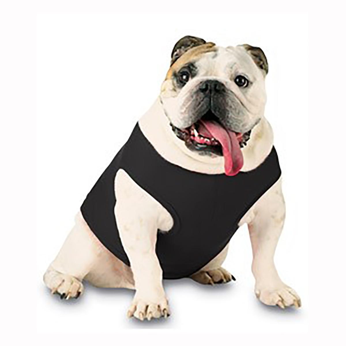 Blank Ribbed Dog Tank - Black