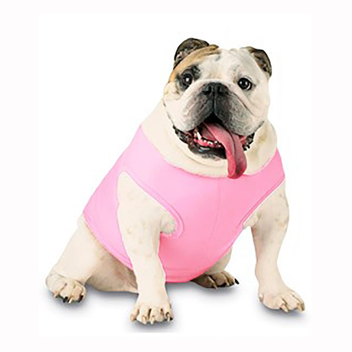 Blank Ribbed Dog Tank - Pink