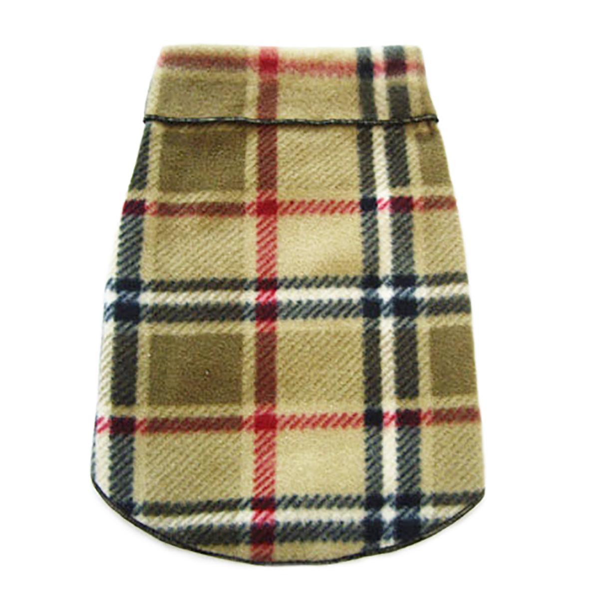Blanket Plaid Dog Pullover - Camel