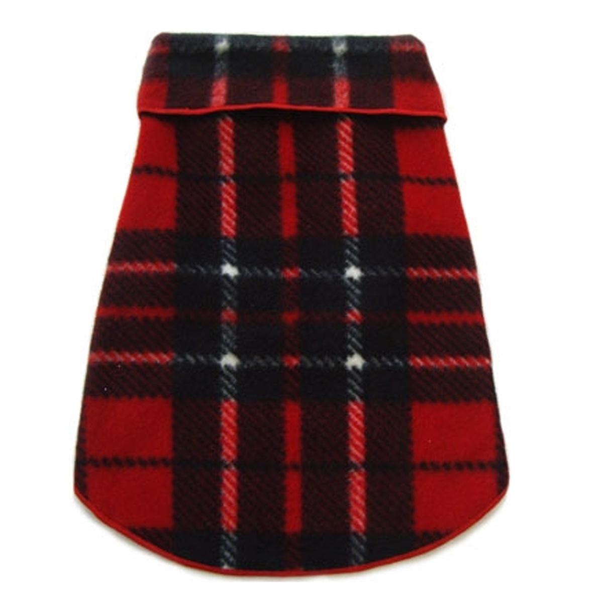 Blanket Plaid Dog Pullover - Red