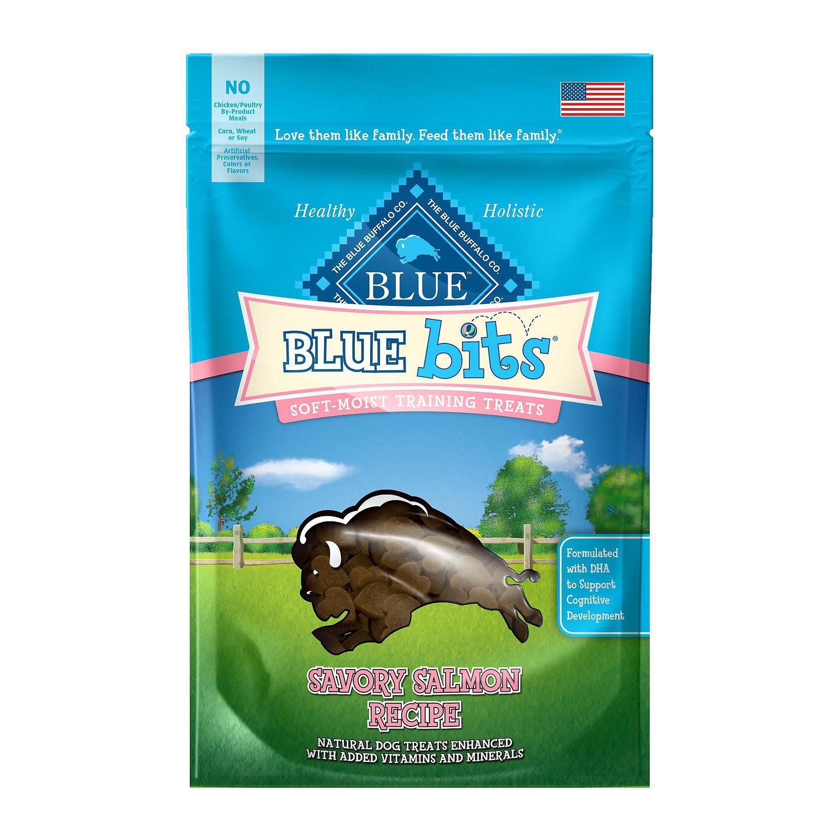 Blue Buffalo Bits Soft-Moist Dog Training Treats - Savory Salmon
