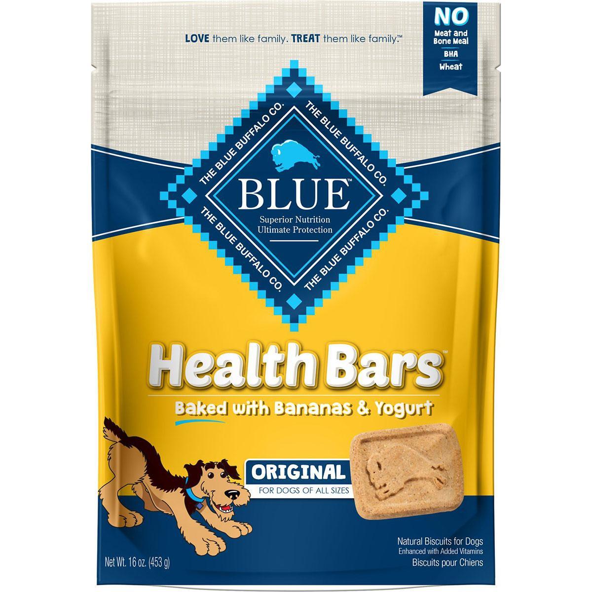 Blue Buffalo Health Bars Baked with Banana & Yogurt Dog Treats