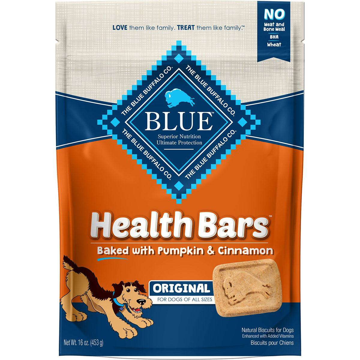 Blue Buffalo Health Bars Baked with Pumpkin & Cinnamon Dog Treats