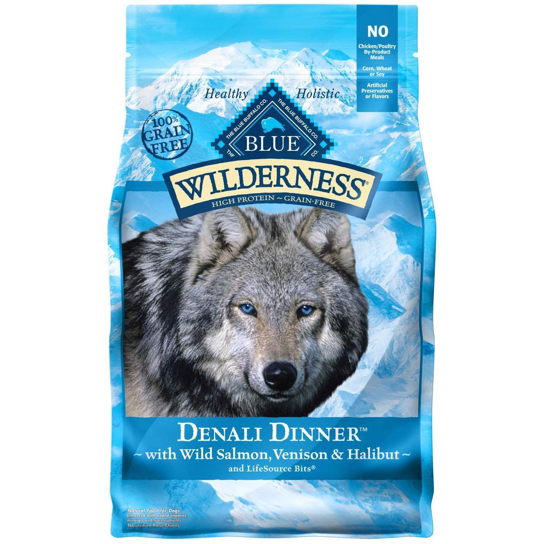 Blue Buffalo Wilderness Denali Dinner Grain Free Dog Food - Wild Salmon, Venison & Halibut