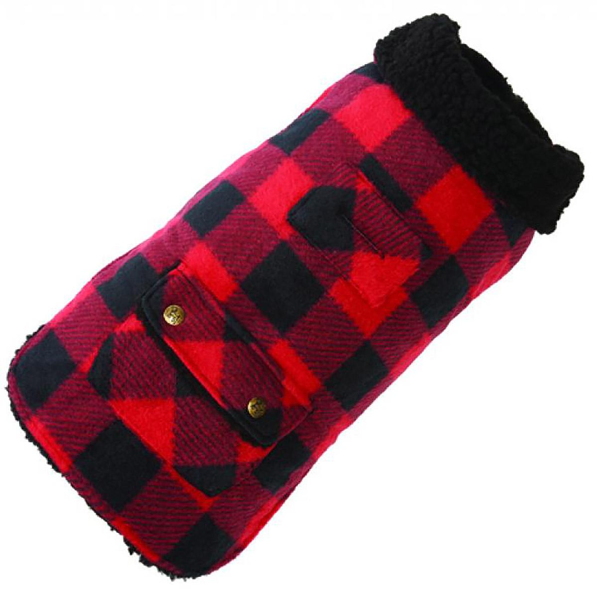 Buffalo Check Fleece Dog Coat by Up Country