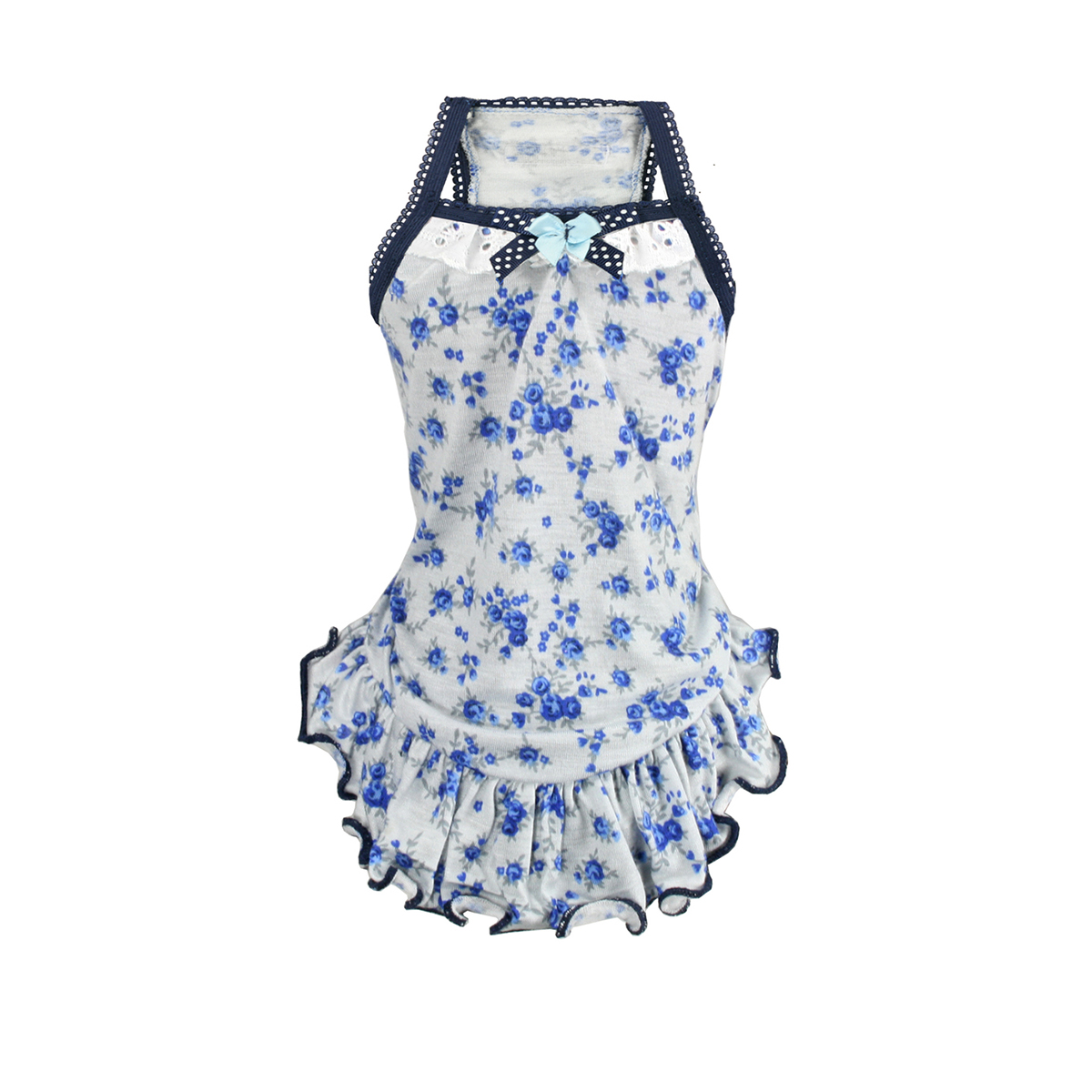 Blue Rose Dog Dress by Hip Doggie