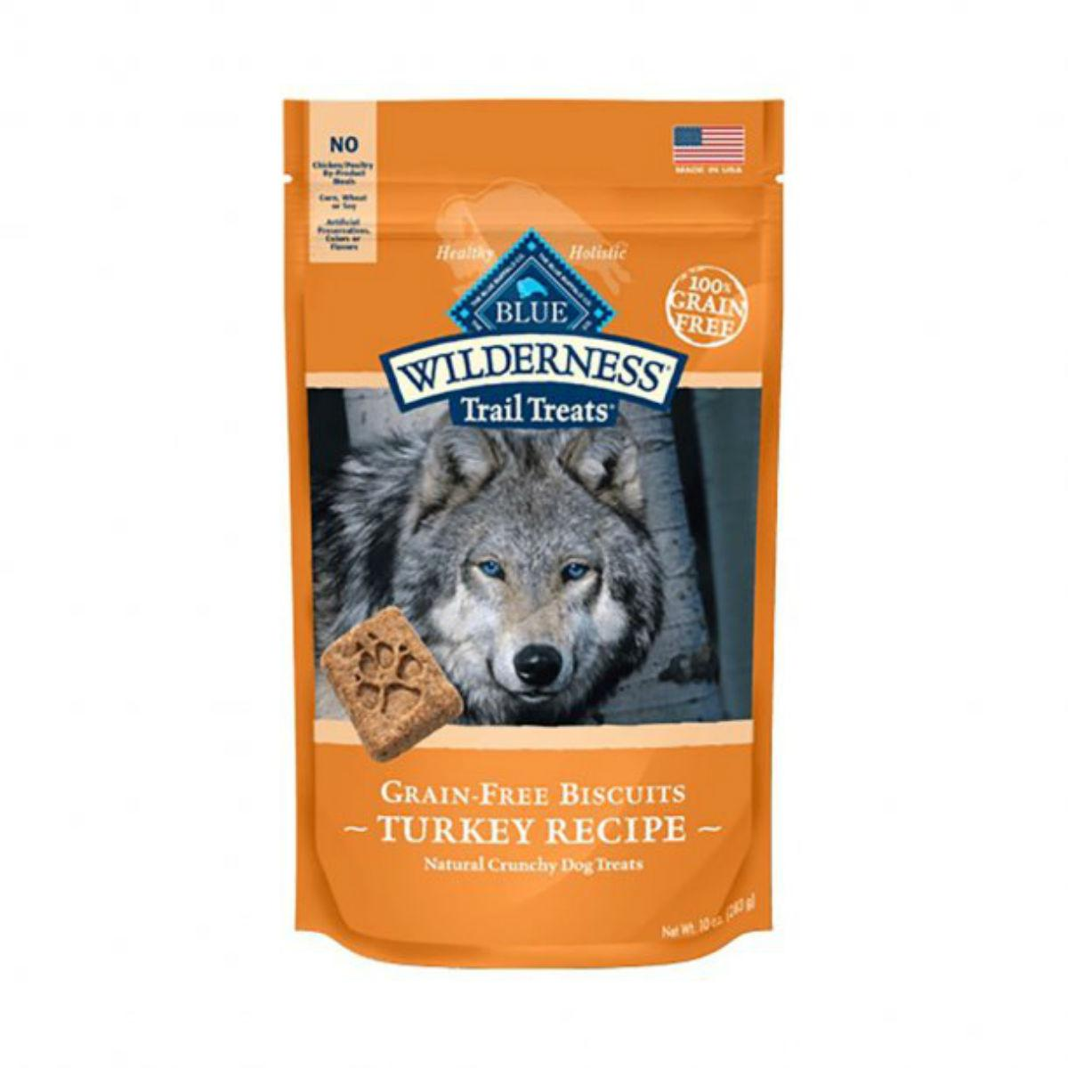 Blue Buffalo Wilderness Trail Treats Grain Free Dog Biscuits - Turkey