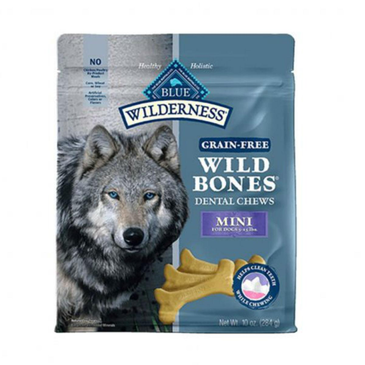 Blue Buffalo Wilderness Wild Bones Grain Free Dental Dog Chew