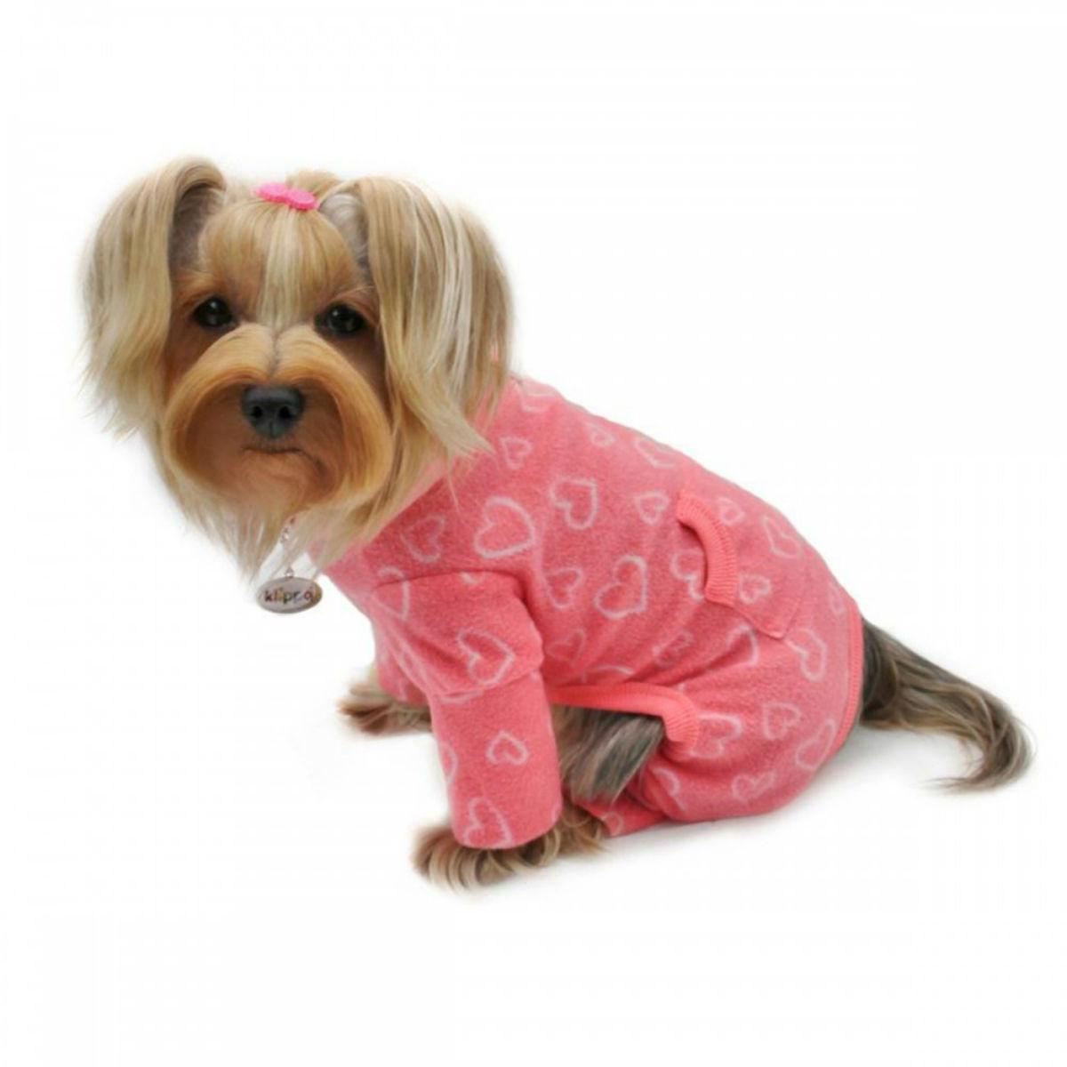 Blush of Love Turtleneck Fleece Dog Pajamas by Klippo