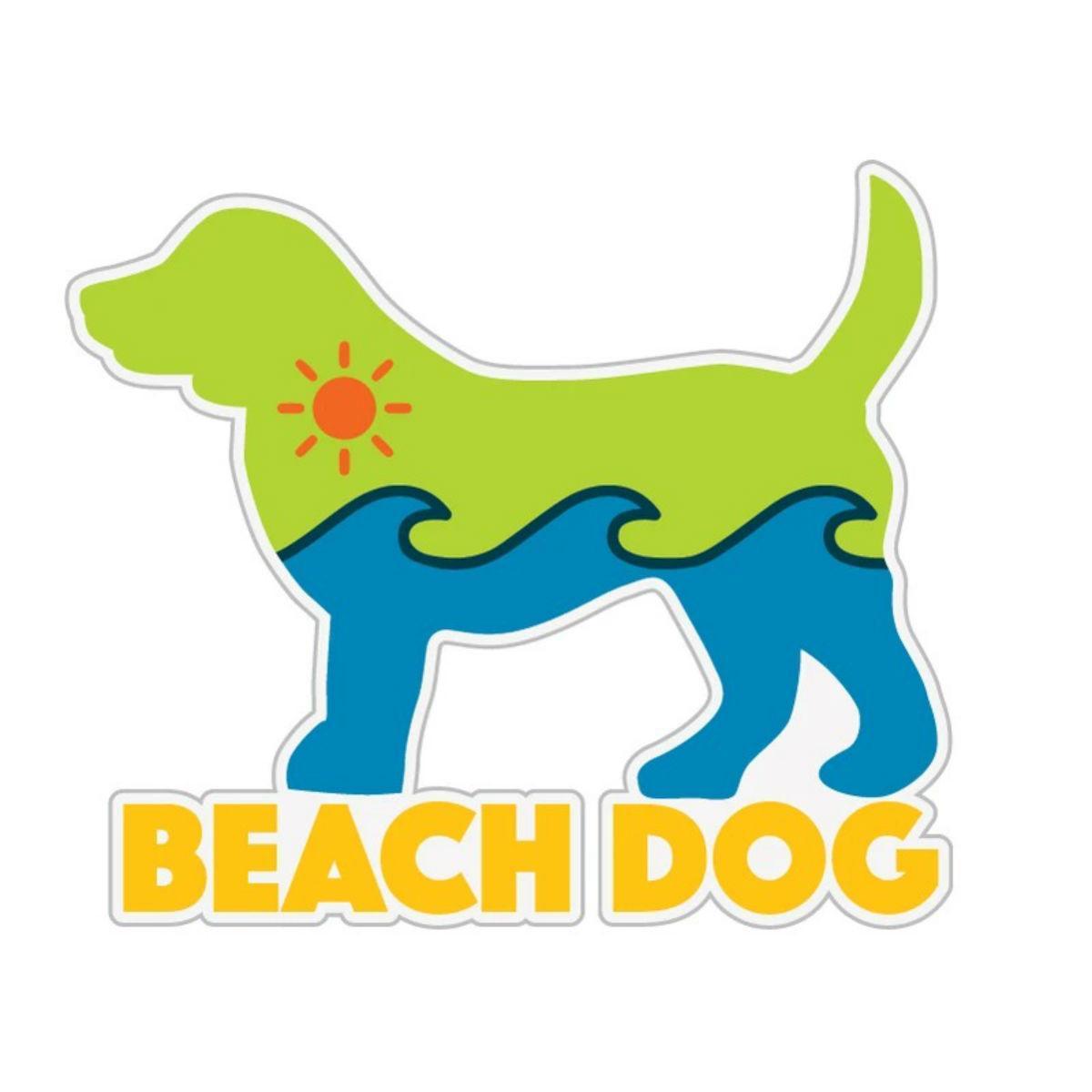 Beach Dog Sticker by Dog Speak