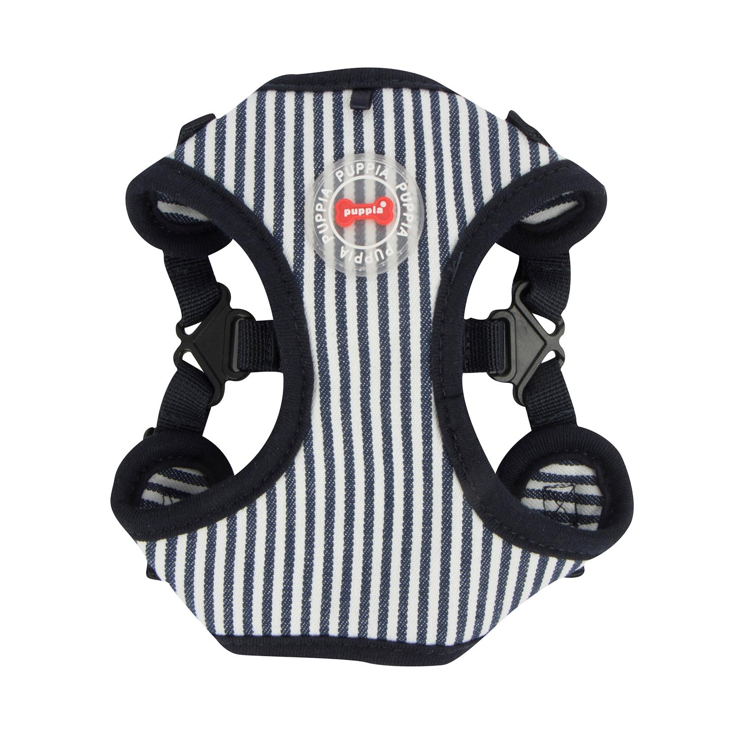 Bobby Adjustable Step-In Dog Harness by Puppia - Striped Navy