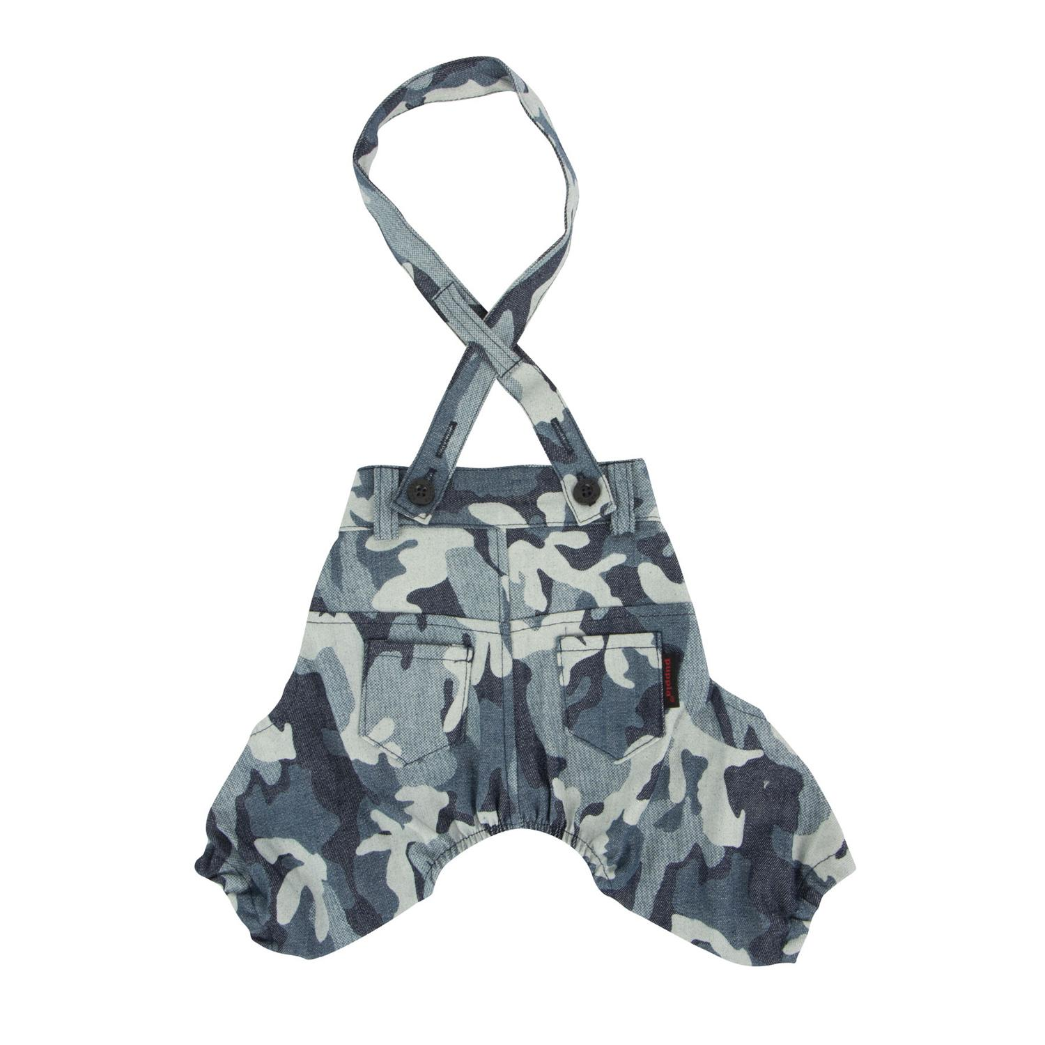 Bobby Dog Suspender Pants by Puppia - Navy Camo