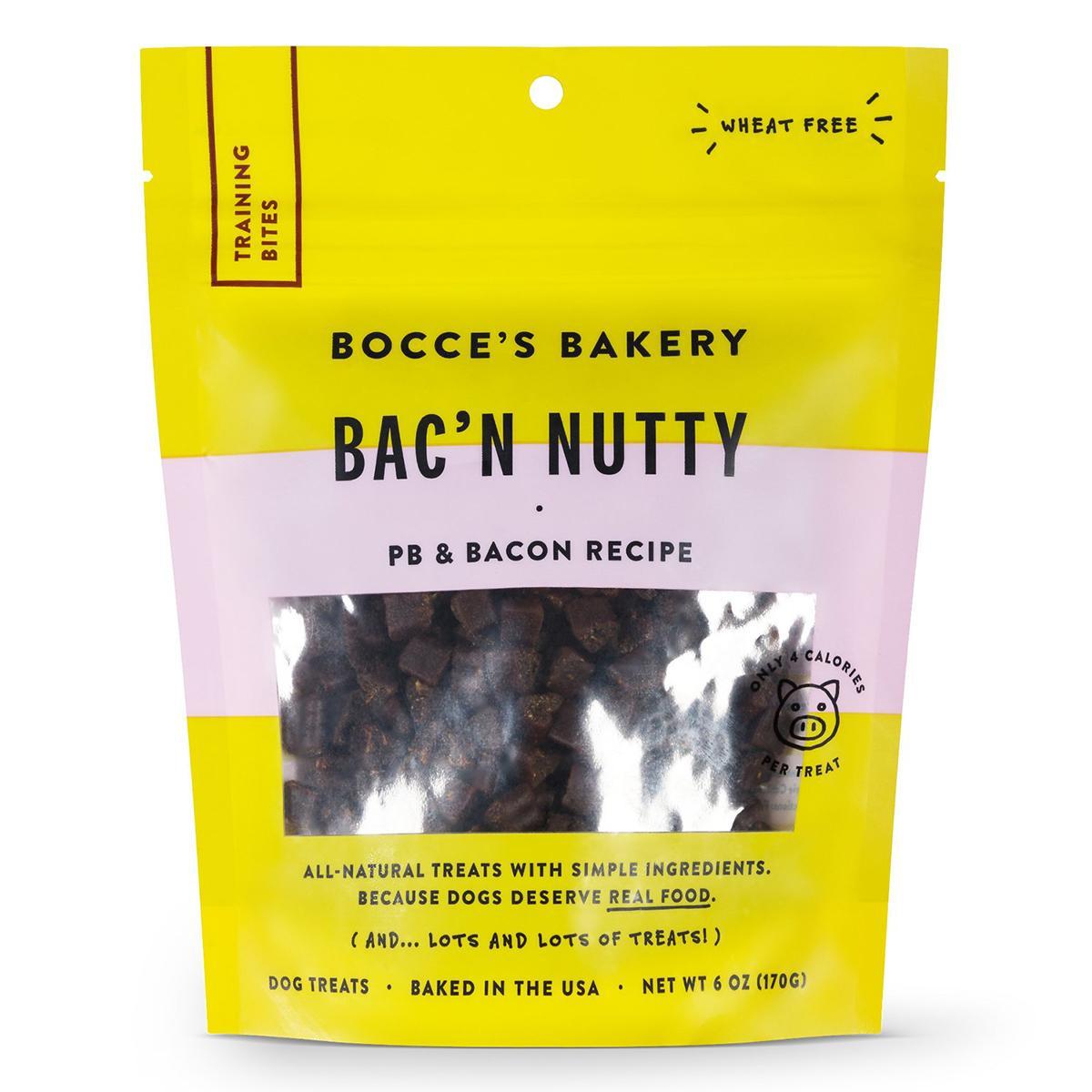 Bocce's Bakery Bac N' Nutty PB & Bacon Training Bites Dog Treats