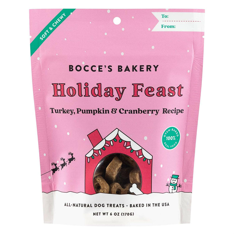 Bocce's Bakery Holiday Feast Dog Treats - Turkey, Pumpkin & Cranberry