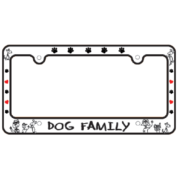 bone shaped license plate frame dog family with same day shipping baxterboo - Dog License Plate Frames