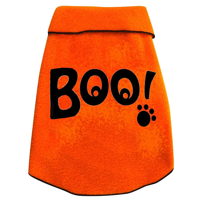 Boo Eyes Dog Pullover - Orange