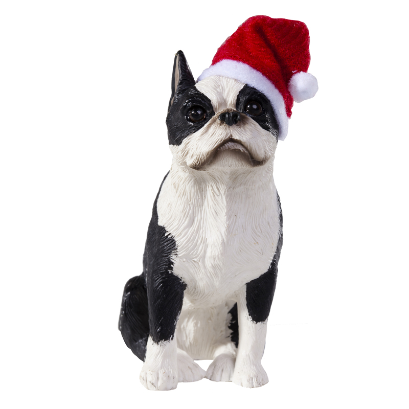 boston terrier christmas ornament