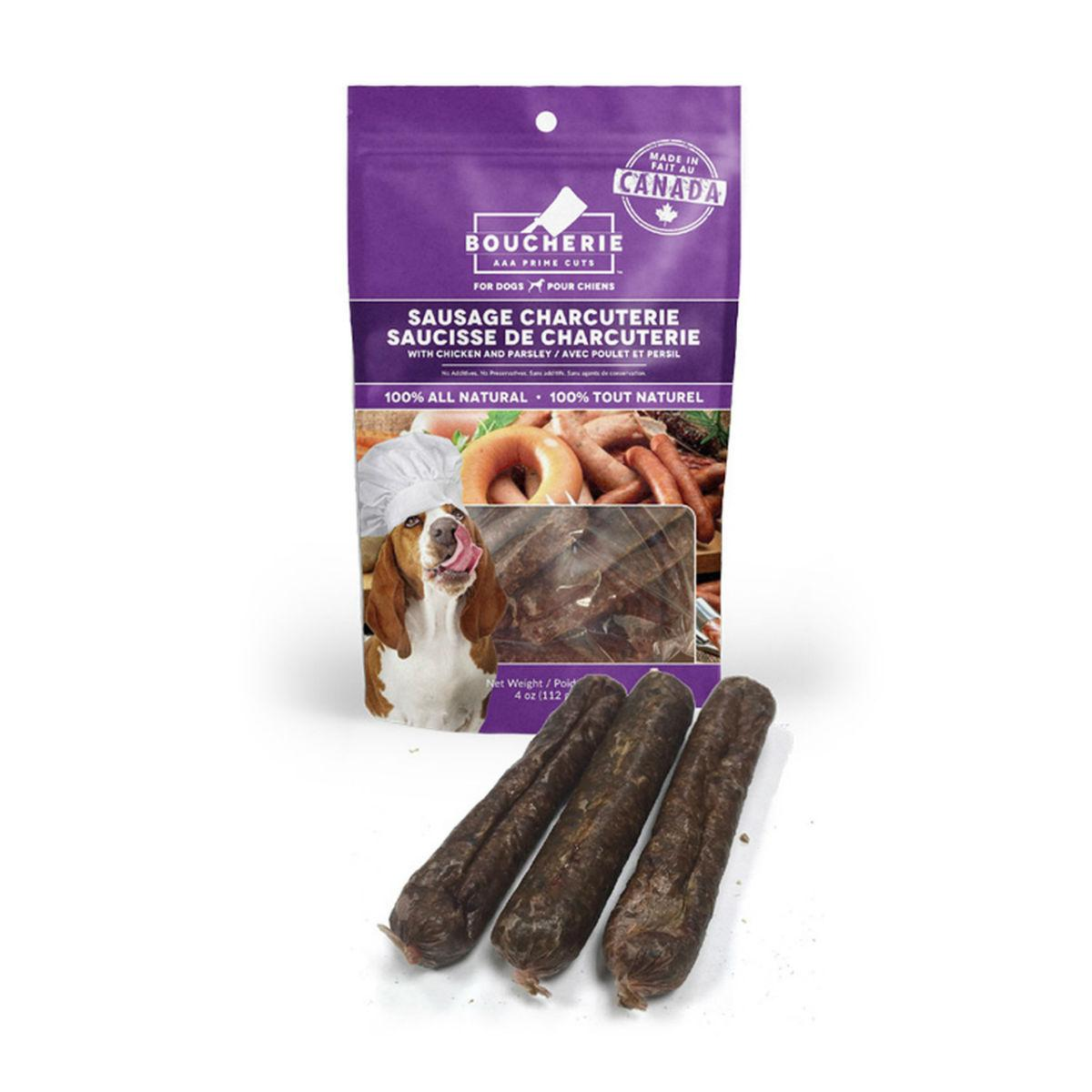 Boucherie Sausage Charcuterie with Chicken Parsley Dog Treats