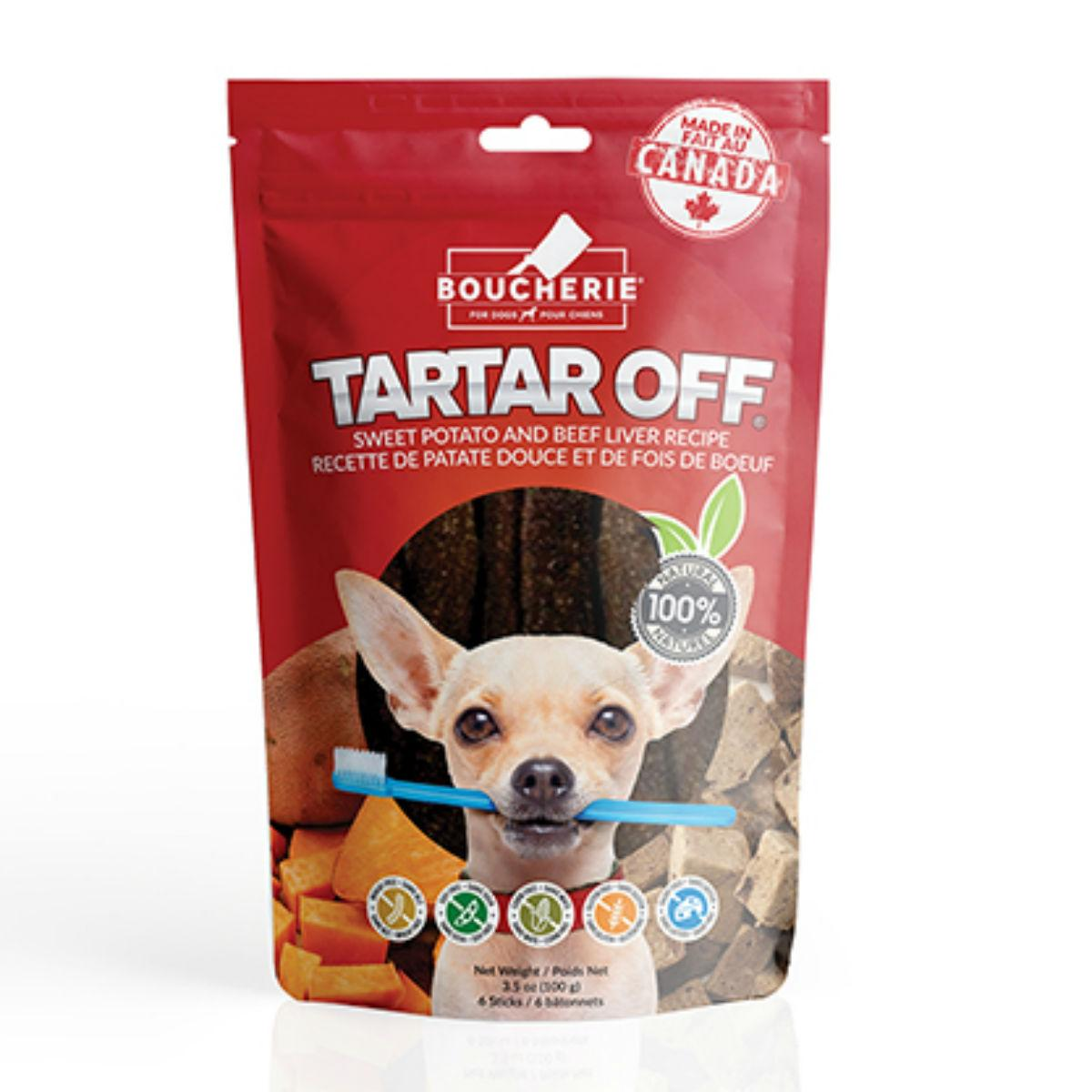 Boucherie Tartar Off Dog Treat - Sweet Potato with Beef Liver