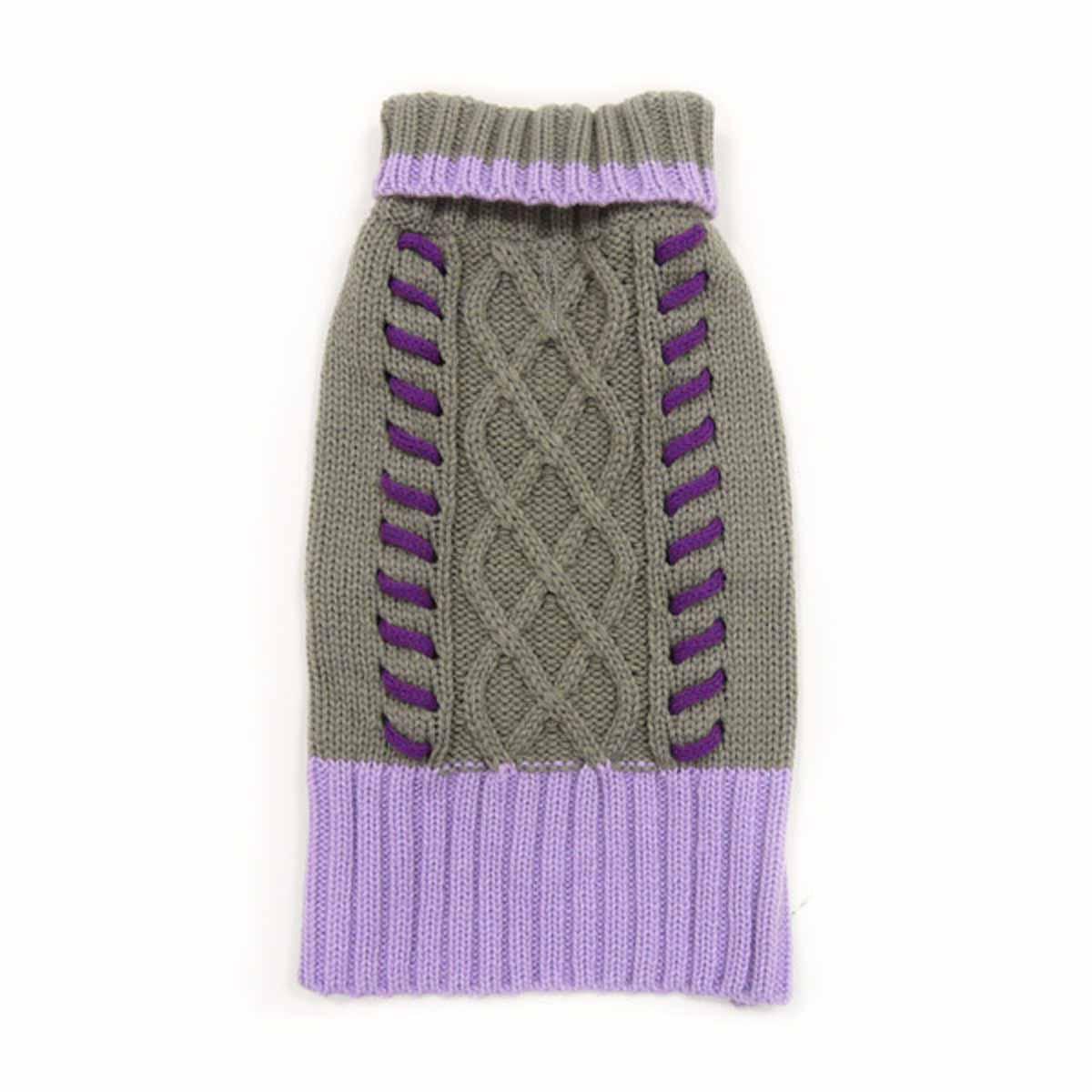 Braided Turtleneck Dog Sweater by Dogo