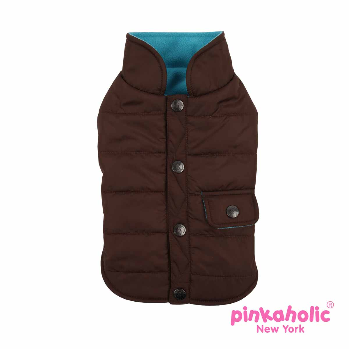 Bravado Quilted Dog Vest by Pinkaholic - Brown