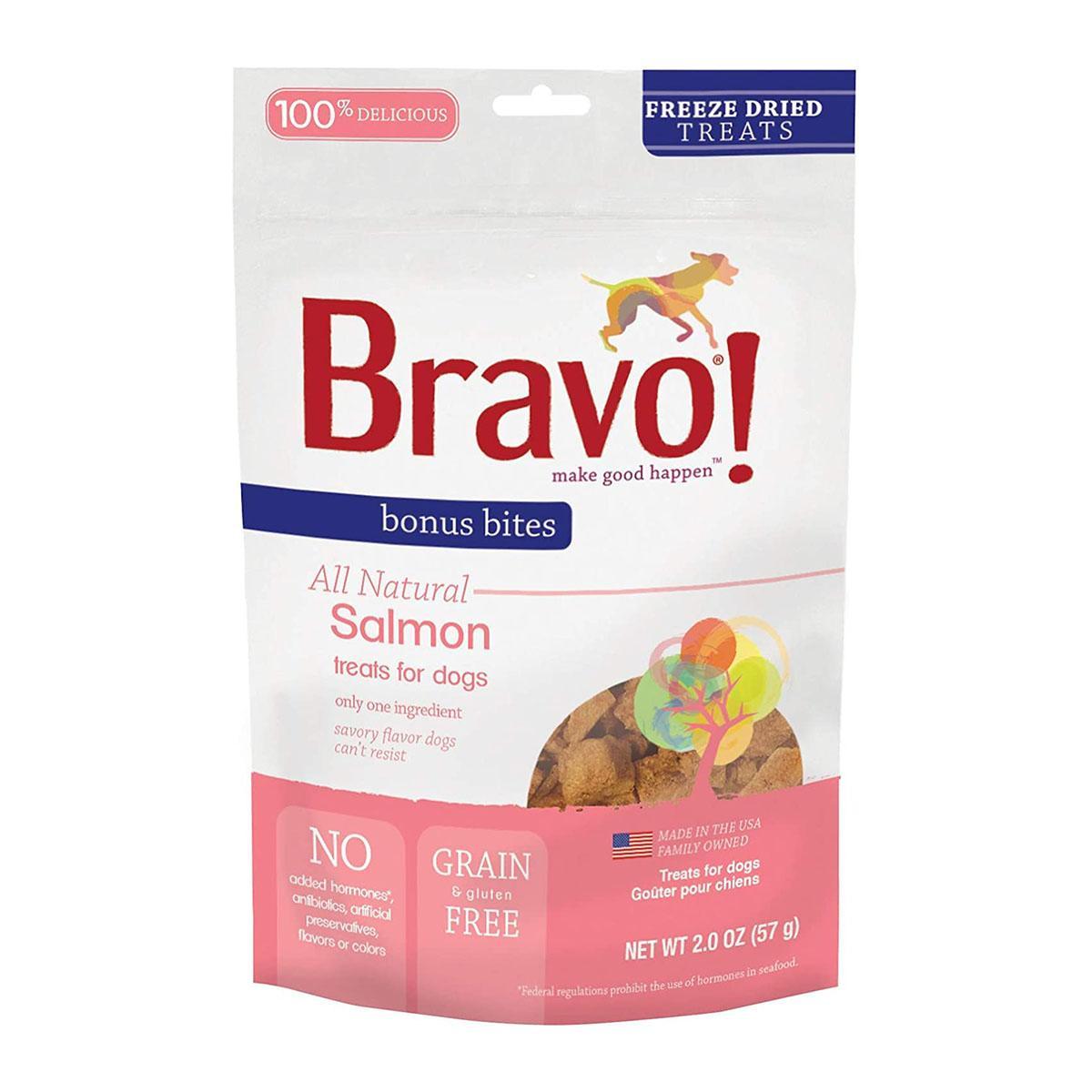 Bravo! Bonus Bites Freeze Dried Dog Treat - Salmon