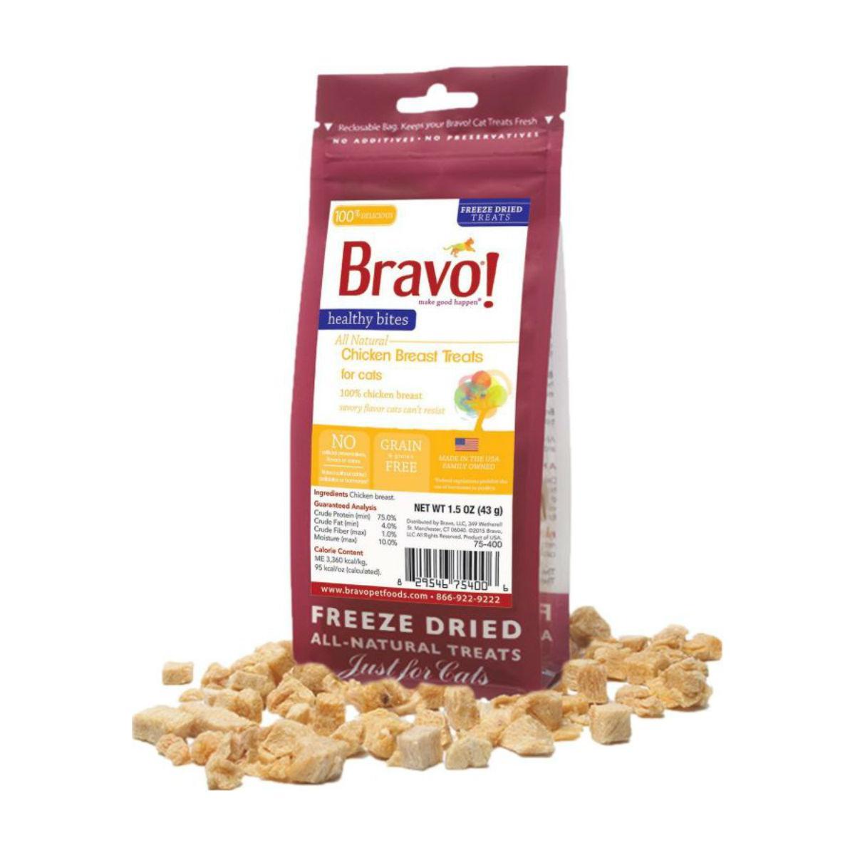 Bravo! Healthy Bites Freeze Dried Cat Treats - Chicken Breast